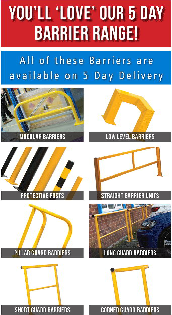5 day delivery on safety barriers