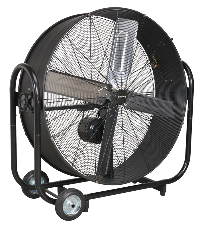 "Industrial High Velocity Drum Fan 42"" Belt Drive 230V"
