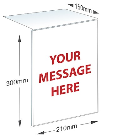 notice holder dimensions
