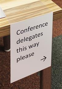Delegates this way
