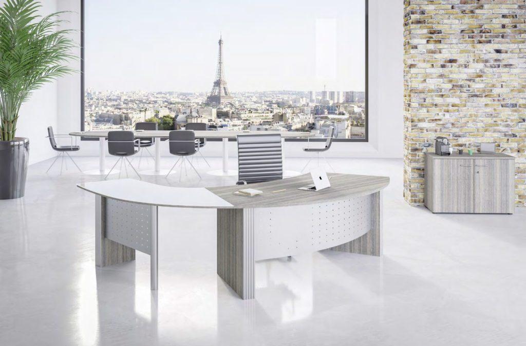 Style curved executive desks