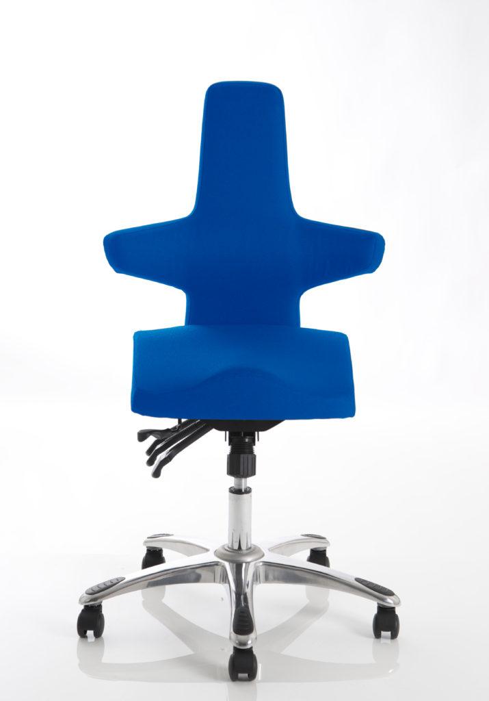 Saltire Blue Fabric Posture Chair