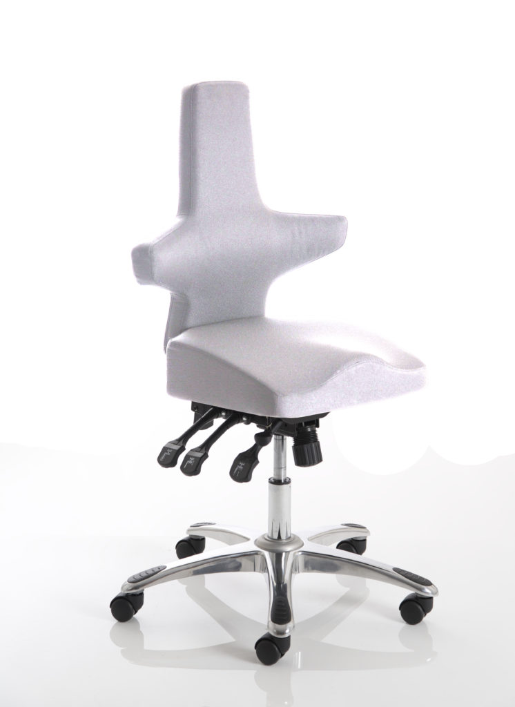 Saltire Ivory Fabric Posture Chair