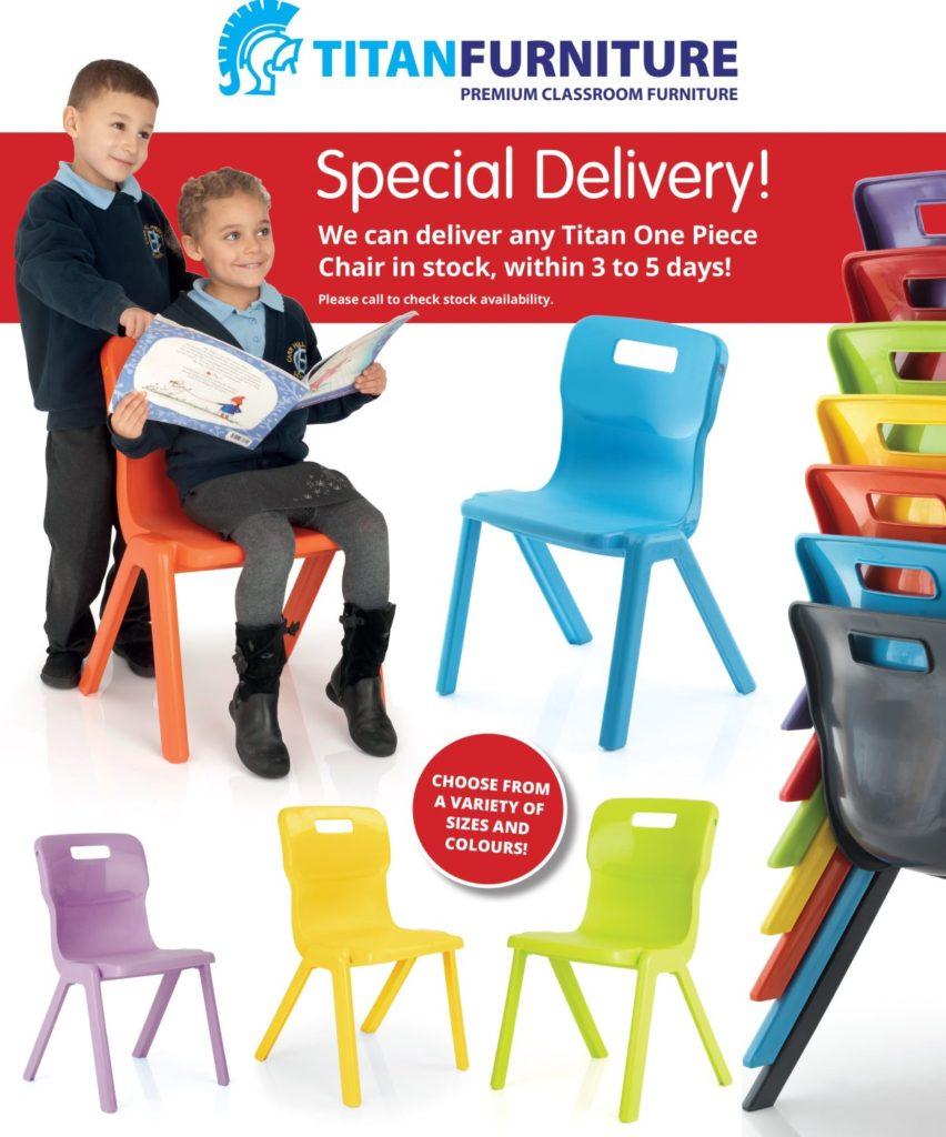 Titan one piece school chair