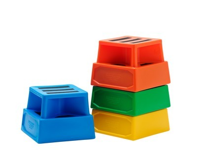 square plastic safety steps