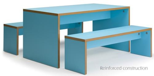 Forest modern bench canteen unit
