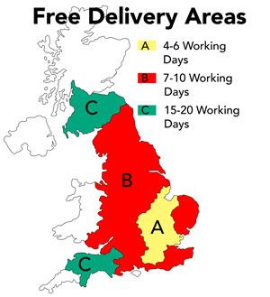 Free Delivery Map UK