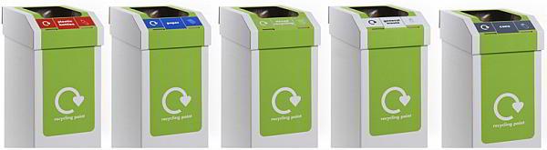 Cardboard recycling litter bins