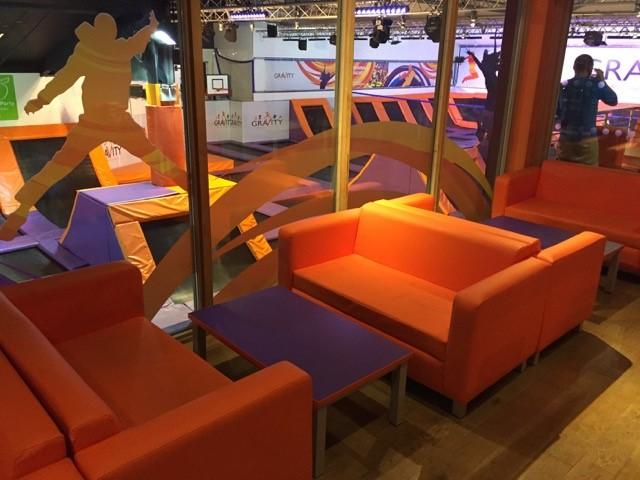 Colourful vinyl sofas