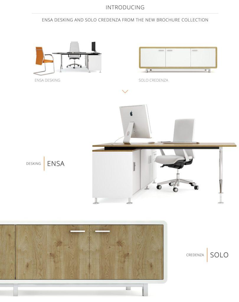 Ensa Desking and Solo Credenzas
