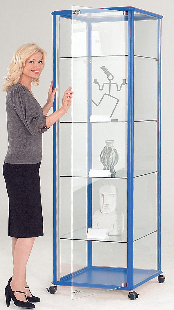 Six Tower Units Are Available In A Range Of Sizes Two With Locking Cupboards To Glazed Display Cabinets