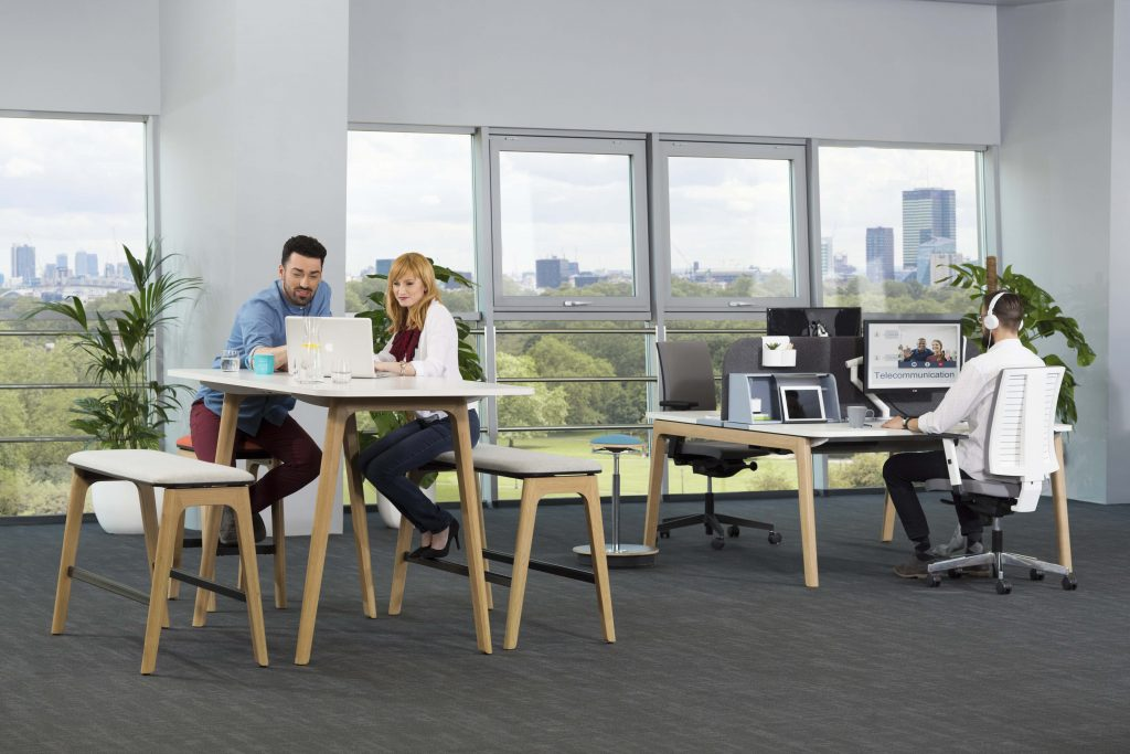 Levitate desking for teams and individuals.