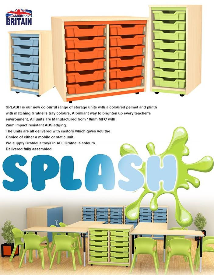 Splash trays storage