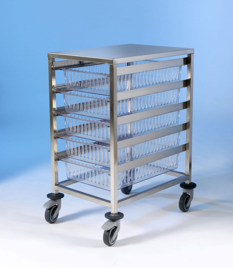 HTM Tray SS Trolley