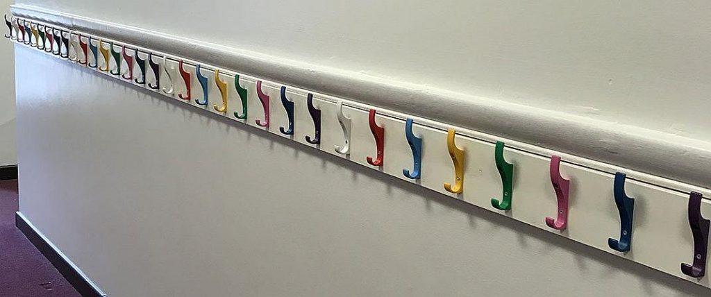 Plastic coat hooks