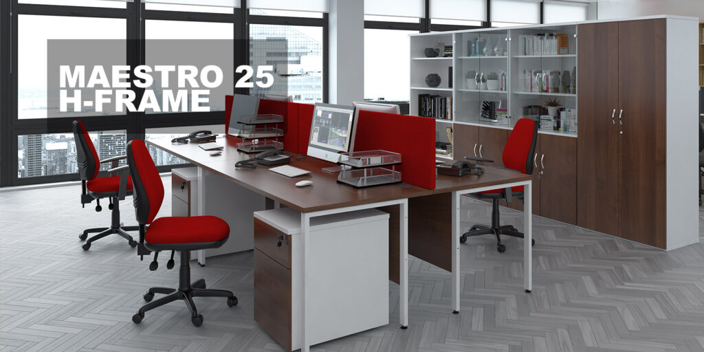 Maestro office furniture H leg frames